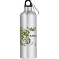 Promotional Products - Imprinted Water Bottles - Custom Promotional Items - Carabiner Bottle - Sport Bottle - Santa Fe Aluminum Water Bottle 26oz