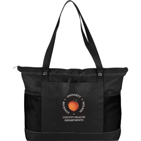 Promotional Products - Imprinted Tote Bag - Office Giveaways - Non Woven Zippered Convention Tote