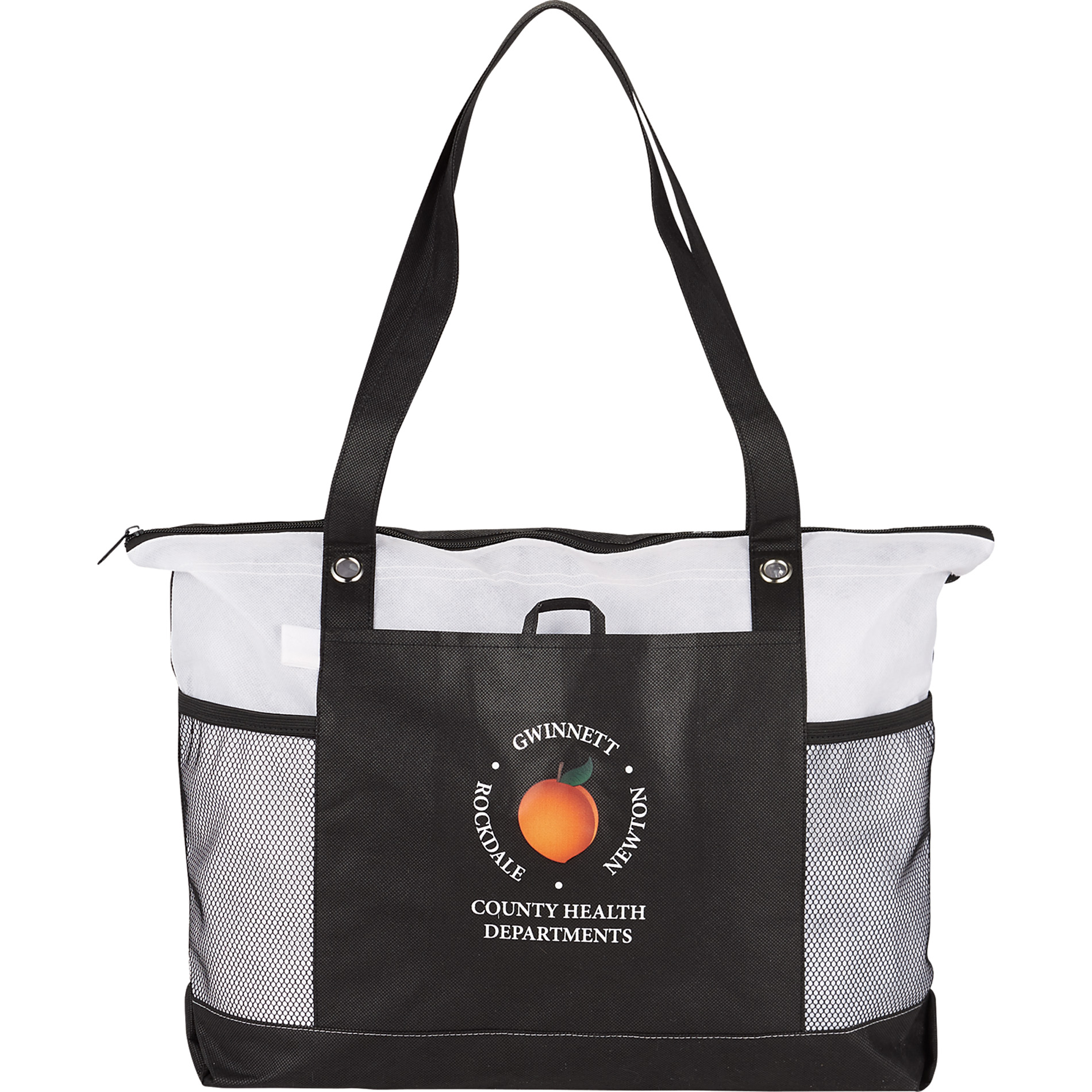 Promotional Products Imprinted Tote Bag Office Giveaways Non Woven Zippered Convention