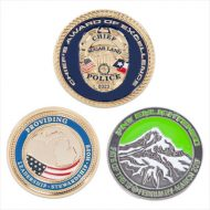 Promotional Custom Logo 4 Colors 2 Sided Zinc Challenge Coin