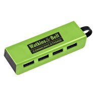Promotional Custom Logo 4-Port Traveler USB Hub With Phone Stand