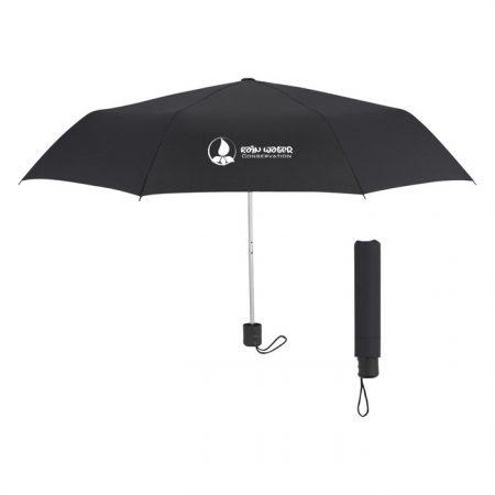 Promotional Custom Logo 42 inch Arc Budget Telescopic Umbrella
