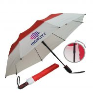 "Promotional Custom Logo 46"" Arc Automatic Open Defender Umbrella"