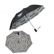 "Promotional Custom Logo 48"" Arc Automatic Open Thank You Umbrella"