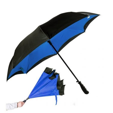 "Promotional Custom Logo 48"" Arc The Rebel Inverted Umbrella"