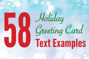 58 Holiday Greeting Card Text Verse Examples