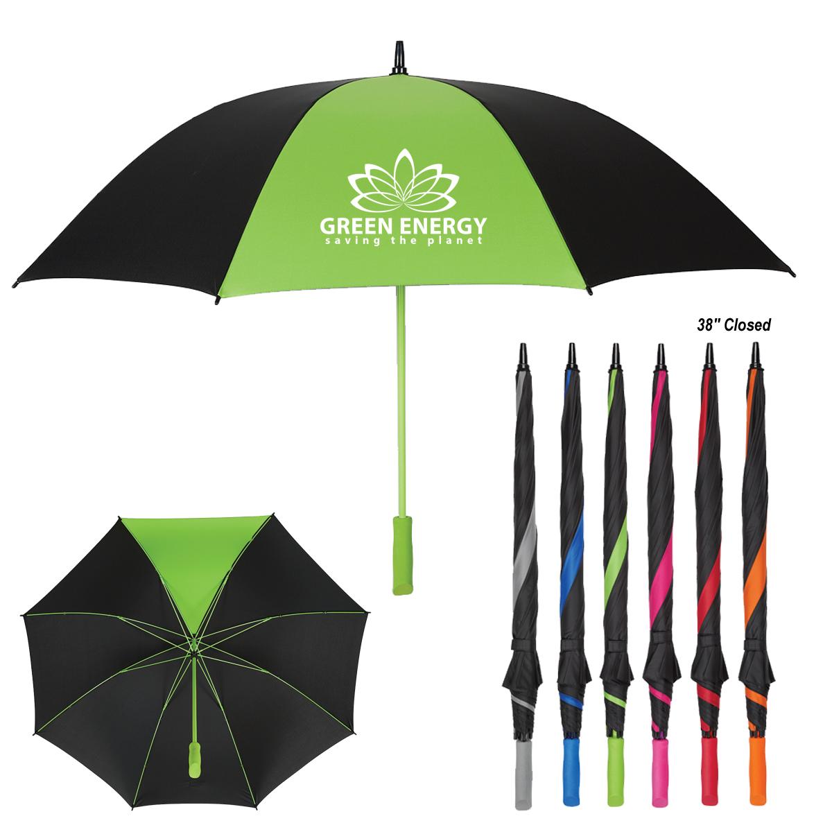 60″ Arc Splash of Color Golf Umbrella   Progress Promotional ...