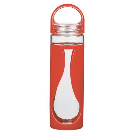 Custom Teardrop Glass Water Bottle 17oz