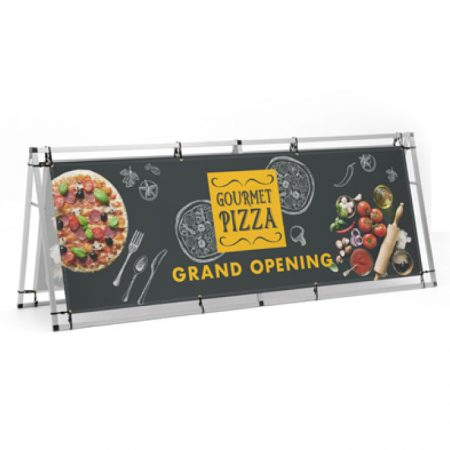 Custom A-Frame Outdoor Banner Display 8ft