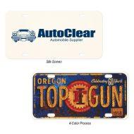 Promotional Custom Logo Aluminum Custom License Plate