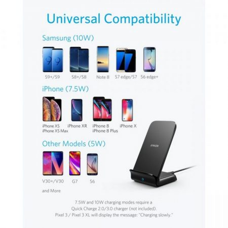Promotional Custom Logo Anker® PowerWave 7.5W Stand Qi Wireless Charger