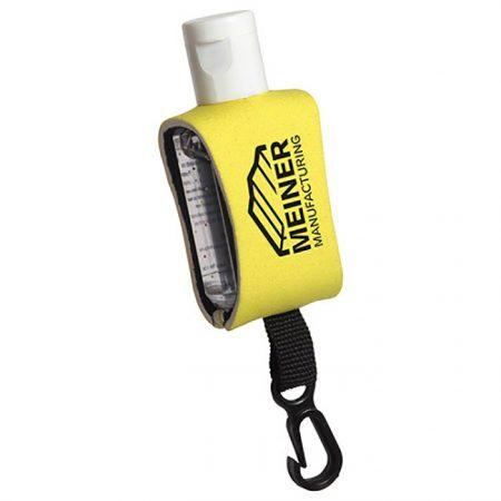 Custom Logo Promotional Antibacterial Hand Sanitizer with Neoprene Sleeve 0.5oz-1 Color Logo