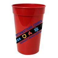 Promotional Custom Logo Antimicrobial Stadium Cup 17oz - Full-Color Imprint