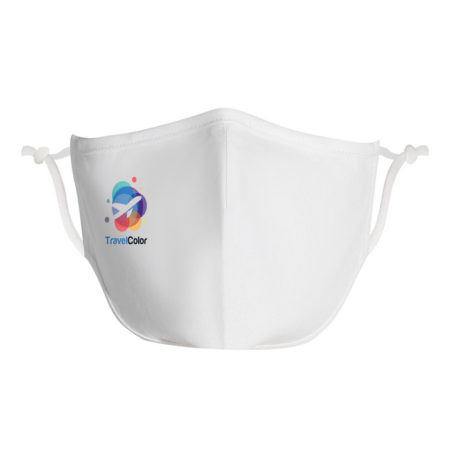 Promotional Custom Logo Antimicrobial Urban 100% Cotton Custom Face Mask Full Color