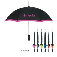 Promotional Custom Logo Automatic Open Edge Two-Tone Umbrella