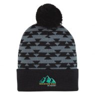 Promotional Custom Logo Aztec Pom Beanie Hat - Embroidery
