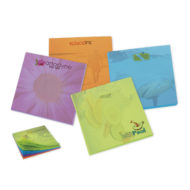Promotional Products - BIC Adhesive 3x3 Bright Colored Paper Notepad Full Color