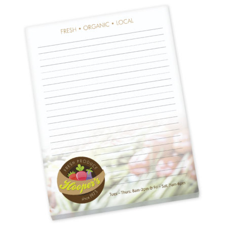 """Promotional Products - BIC® 8.5""""x 11"""" Non-Adhesive Scratch Pad Full Color - 25 Sheets"""