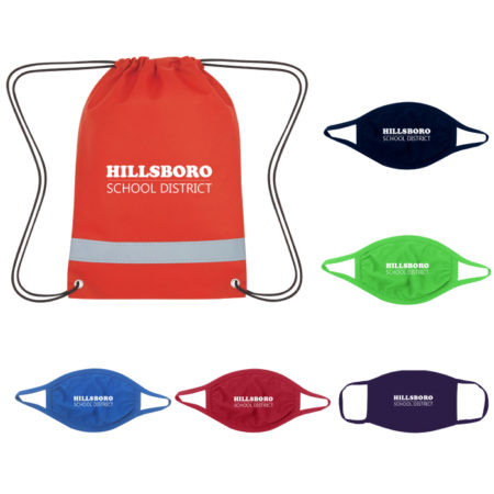 Custom Back To School PPE Face Mask Kit with Logo