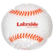 Promotional Custom Logo Baseball Hot/Cold Pack Aqua Pearls