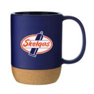 Personalized Beck Cork Base Ceramic Mug 13oz with Logo