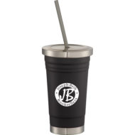 Promotional Products - Imprinted Thermos Tumbler Coffee Mug - Promotional Thermos Tumbler - Beck Stainless Steel Travel Tumbler 16oz