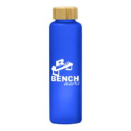 Promotional Custom Logo Belle Glass Water Bottle With Bamboo Lid 17oz