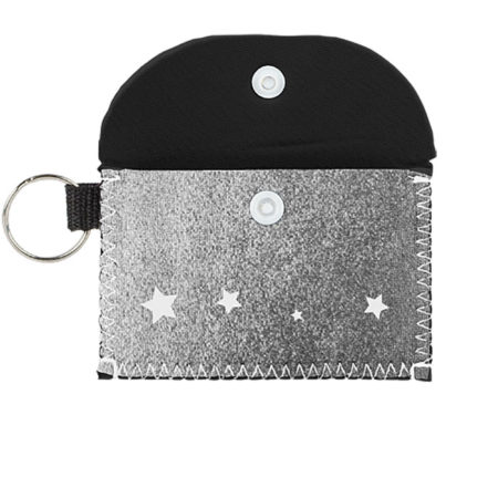 Bend and Snap Metallic Neoprene Pouch for Keys and Cards Logo Customized