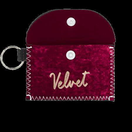 Customizable Bend and Snap Velvet Neoprene Pouch