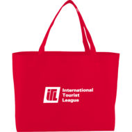 Promotional Products - Imprinted Tote - Logo Decorated Bag - Big Boy Non-Woven Shopper Tote Bag
