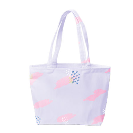 Custom Logo Birdie Tote Bag - Full Color