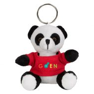 Promotional Custom Logo Black And White Stuffed Plush Mini Panda Key Chain
