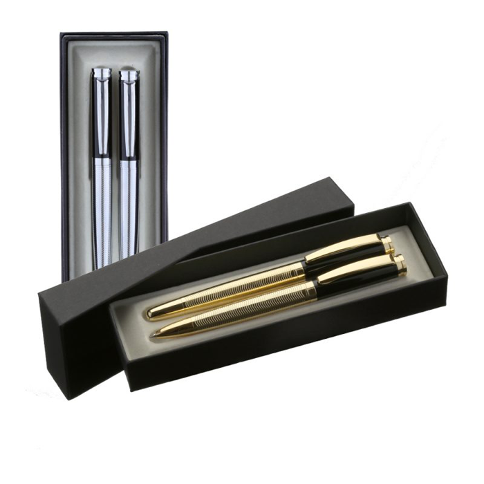 Promotional Products - LaoBan Brass Ballpoint & Rollerball Pen Gift Set