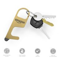 Custom Imprinted Metal Brass Door Opener Tool with Stylus Logo