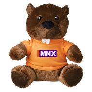 Promotional Custom Logo Brown Stuffed Plush Bucky Beaver