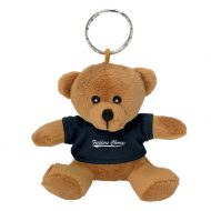 Promotional Custom Logo Brown Stuffed Plush Mini Bear Key Chain