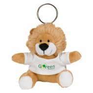 Promotional Custom Logo Brown Stuffed Plush Mini Lion Key Chain