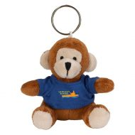 Promotional Cystom Logo Brown Stuffed Plush Mini Monkey Key Chain