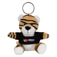Promotional Custom Logo Brown Stuffed Plush Mini Tiger Key Chain