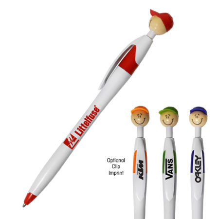 Promotional Products - Imprinted Novelty Promotional Pens - Cappy Smilez Pen