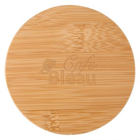 Promotional Custom Logo Ceramic Container With Bamboo Lid 24oz