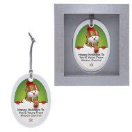 Custom Logo Ceramic Holiday Ornament