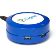 ChargeHub X3-3-Port USB Charging Station with Custom Logo Imprint