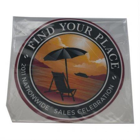 Promotional Custom Logo Circle Shaped Microfiber Cleaning Cloth