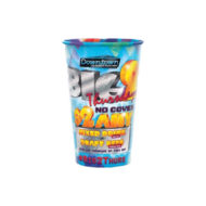 Promotional Cups - Clear Plastic 24oz Stadium Cups Full Color Imprint
