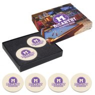 Promotional Custom Logo Coaster Gift Set