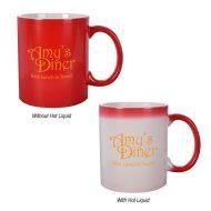 Promotional Custom Logo Color Changing Coffee Mug 11oz