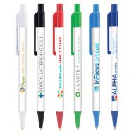 Promotional Custom Logo Colorama AM Click Pen With Antimicrobial Additive