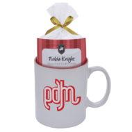 Promotional Custom Logo Colored Stoneware Mug With Mug Cake 11oz