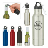 Promotional Products - Custom Imprinted Bottle Holder - Promotional Insulated Bottle Holder - Imprinted Bottle Opener - Conceal Bottle Armour